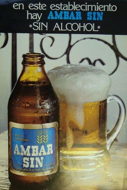 Cartel con el que se anunciaba la primera 'sin' española en los bares.