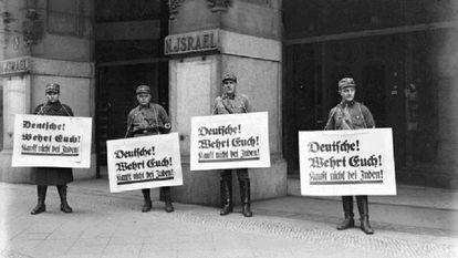 Los inicios del boicot a los productos judíos poco antes del inicio de la Segunda Guerra Mundial.