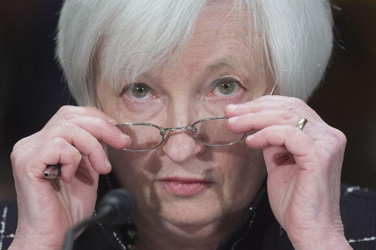 Janet Yellen comparece ante el Senado como responsable de la FED, en febrero de 2016.
