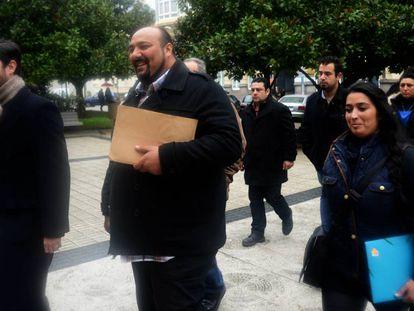 Sinaí Giménez, en 2014 a las puertas del Tribunal Superior de Xustiza de Galicia.