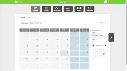 Calendario de la app