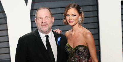 Harvey Weinstein y su exesposa Georgina Chapman tras la gala de los Oscar en 2017.