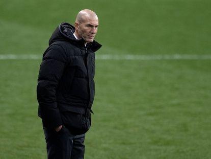 Zidane, en el partido de la Supercopa contra el Athletic en Málaga.