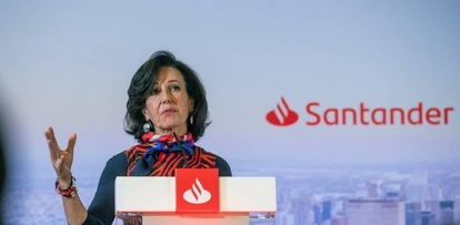 La presidenta del Banco Santander, Ana Botín, en una imagen de archivo.