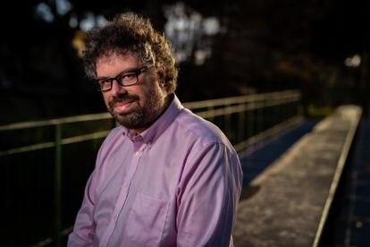 El escritor Sergio del Molino en Zaragoza.