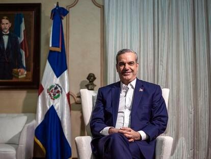 El presidente de la República Dominicana, Luis Abinader, en el Palacio Nacional de Santo Domingo.