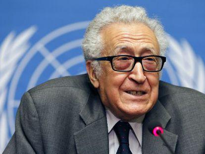 El enviado especial de la ONU a Siria, Lajdar Brahimi, este viernes.