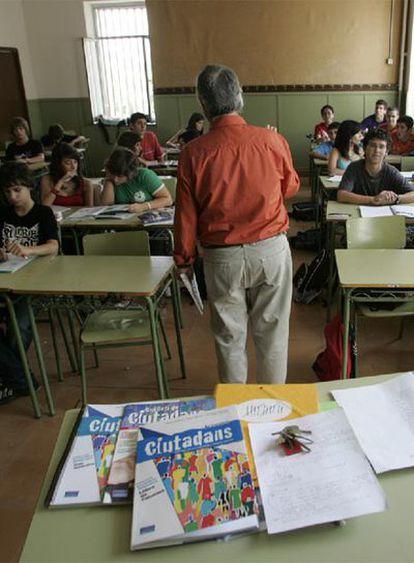 Clase de Educación para la Ciudadanía.
