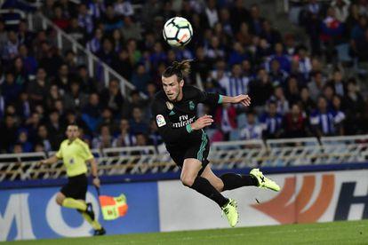 Gareth Bale en la acción del gol del 1-3 a la Real Sociedad.