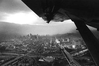 Vista aérea de la ciudad colombiana de Medellín.
