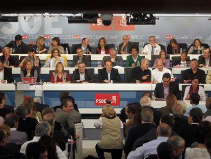 Reunión del Comité Federal del PSOE.