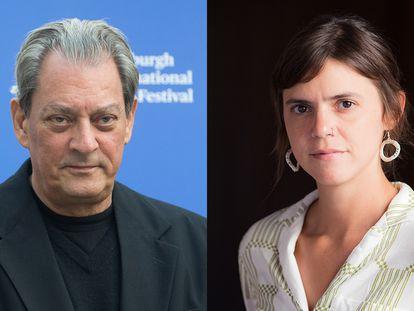 El escritor estadounidense Paul Auster y la mexicana Valeria Luiselli.