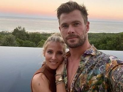 Elsa Pataky y Chris Hemsworth, en Byron Bay (Australia).