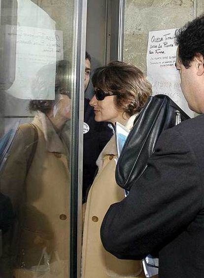 Telma Ortiz, a su llegada al tribunal de Toledo que vio su caso.