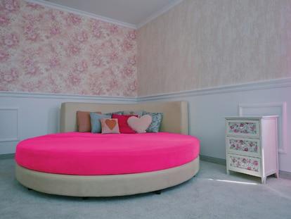 Una de las habitaciones de Studio20 preparadas para el 'camming', que recrean espacios ajustados a distintas preferencias eróticas. |