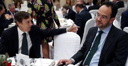 Rafael y Antonio Hernando, el pasado 14 de diciembre.
