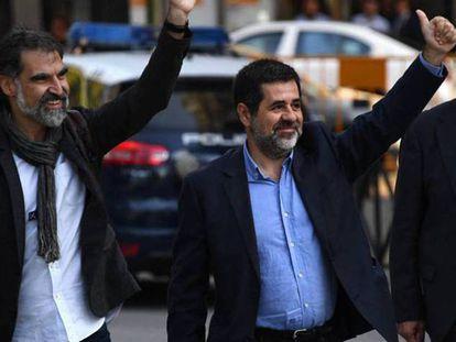 Jordi Cuixart, izquierda, y Jordi Sánchez en una imagen de archivo.