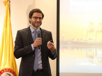 Felipe Jaramillo, presidente de ProColombia, en una reciente visita a México.