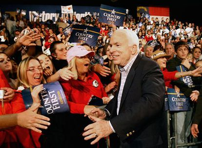 El candidato republicano en un acto en la ciudad de Concord, en Carolina del Norte