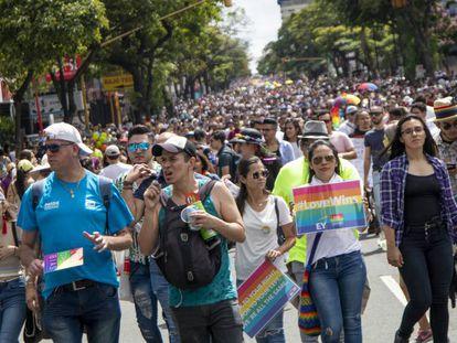 La marcha por el Orgullo Gay en San José, Costa Rica.