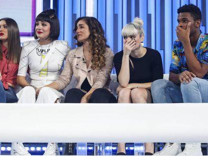 Los finalistas de la edicion 2018, de izquierda a derecha: Sabela, Natalia, Julia, Alba y Famous.