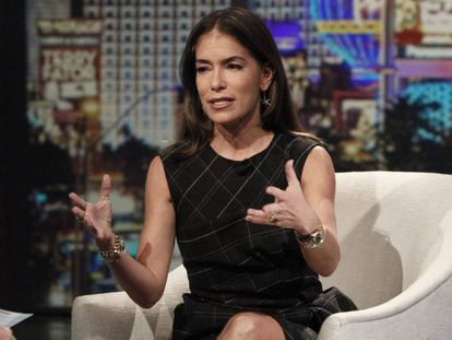 La abogada especialista en divorcios Laura Wasser durante su intervención en un programa de televisión.