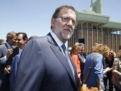 El líder del PP, Mariano Rajoy, este martes durante la presentación de la candidatura por Madrid, que él encabeza.
