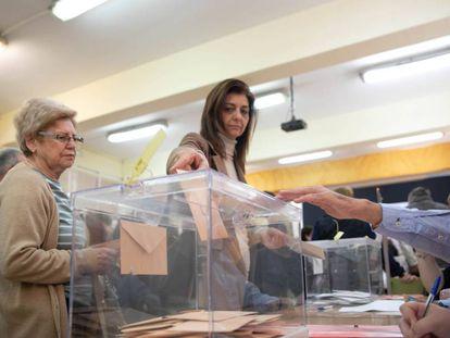 Colegio electoral de Sevilla durante las elecciones generales del 28-A.