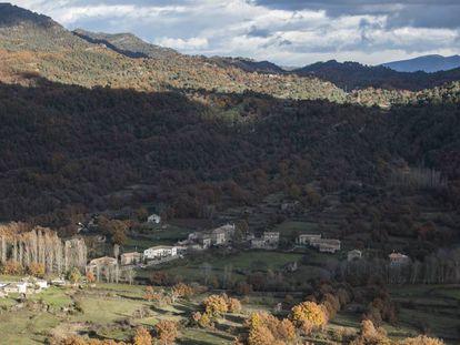 Vista de Nocito, pueblo perteneciente al municipio de Nueno, en la comarca de La Hoya (Huesca).