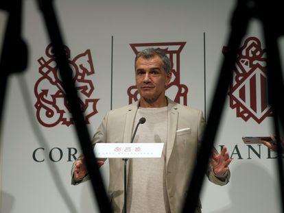 El líder de Ciudadanos en la Comunitat Valenciana, Toni Cantó, este jueves en las Cortes valencianas.