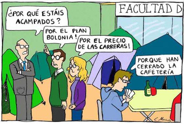"""""""Plan Bolonia"""", la mejor tira cómica de 'El País de los Estudiantes'."""