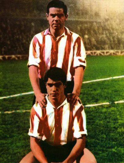 January Arieta, standing and his brother Antón, crouching