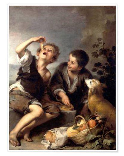 """Bartolomé Murillo (1670 -1675), """"Niños comiendo pastel"""""""