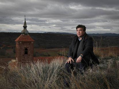 El diputado de Teruel Existe, Tomás Guitarte, ayer en Cutanda.