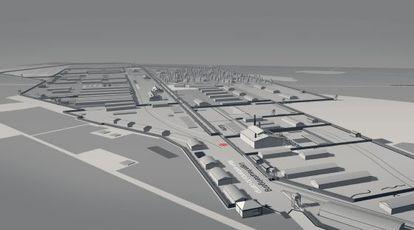 Reconstrucción digital del campo de Bergen-Belsen.