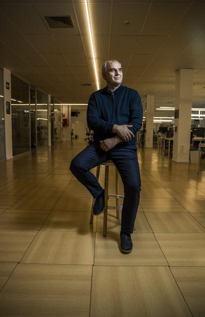 Carlos Barrabés en su empresa, este 9 de octubre.