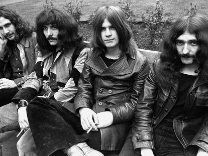 Black Sabbath en 1970, el año en el que editaron su primer disco: (de izquierda a derecha) Bill Ward, Tony Iommi, Ozzy Osbourne y Geezer Butler.