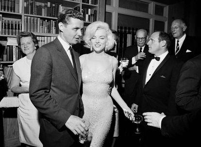 Marilyn Monroe en la fiesta de cumpleaños de John F. Kennedy, en 1962.