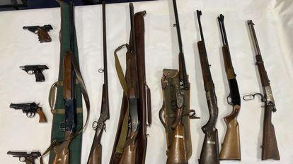 El presunto autor de las amenazas contra Aragonès tenía 11 armas de fuego en su casa