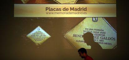 Presentación de la web que recoge las placas de personajes insignes.