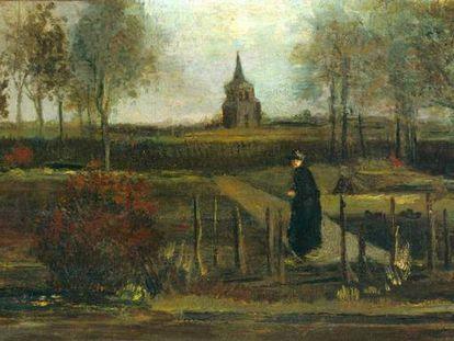 'Jardín primaveral, la casa parroquial de Nuenen en primavera' (1884), la pintura de Van Gogh robada del museo Singer de Países Bajos.
