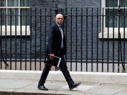 El ministro de Sanidad de Reino Unido, Sajid Javid, el pasado miércoles en Downing Street.