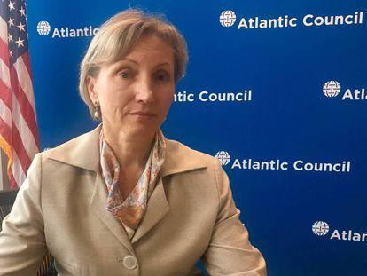 Marina Litvinenko durante la entrevista
