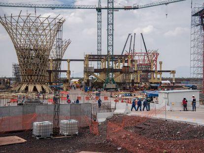 La construcción del aeropuerto de Ciudad de México en Texcoco.