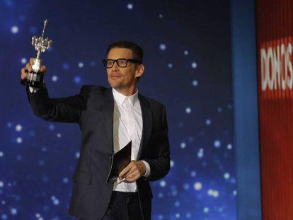 Ethan Hawke, en la rueda de prensa tras recibir el Premio Donosti del Festival de Cine de San Sebastian.
