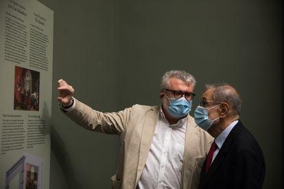 Miguel Falomir, director del Museo del Prado, con Javier Solana, presidente del Patronato Real del Museo.