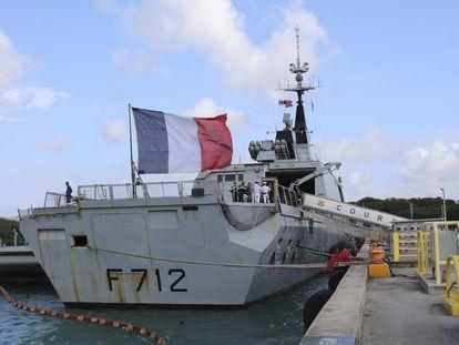 La fragata 'Courbet', en 2017 en la base naval de Guam.