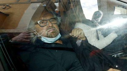 Beppe Grillo, fundador del Movimiento 5 Estrellas, en febrero de 2021.