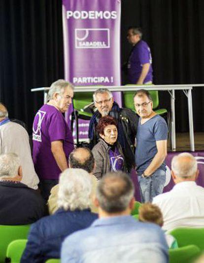 Mitin de Podemos en Sabadell.