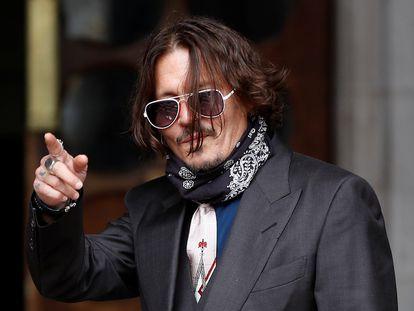 El actor Johnny Depp, a su llegada al juicio este miércoles.